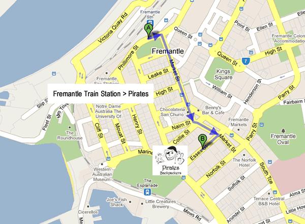 pirates location fremantle